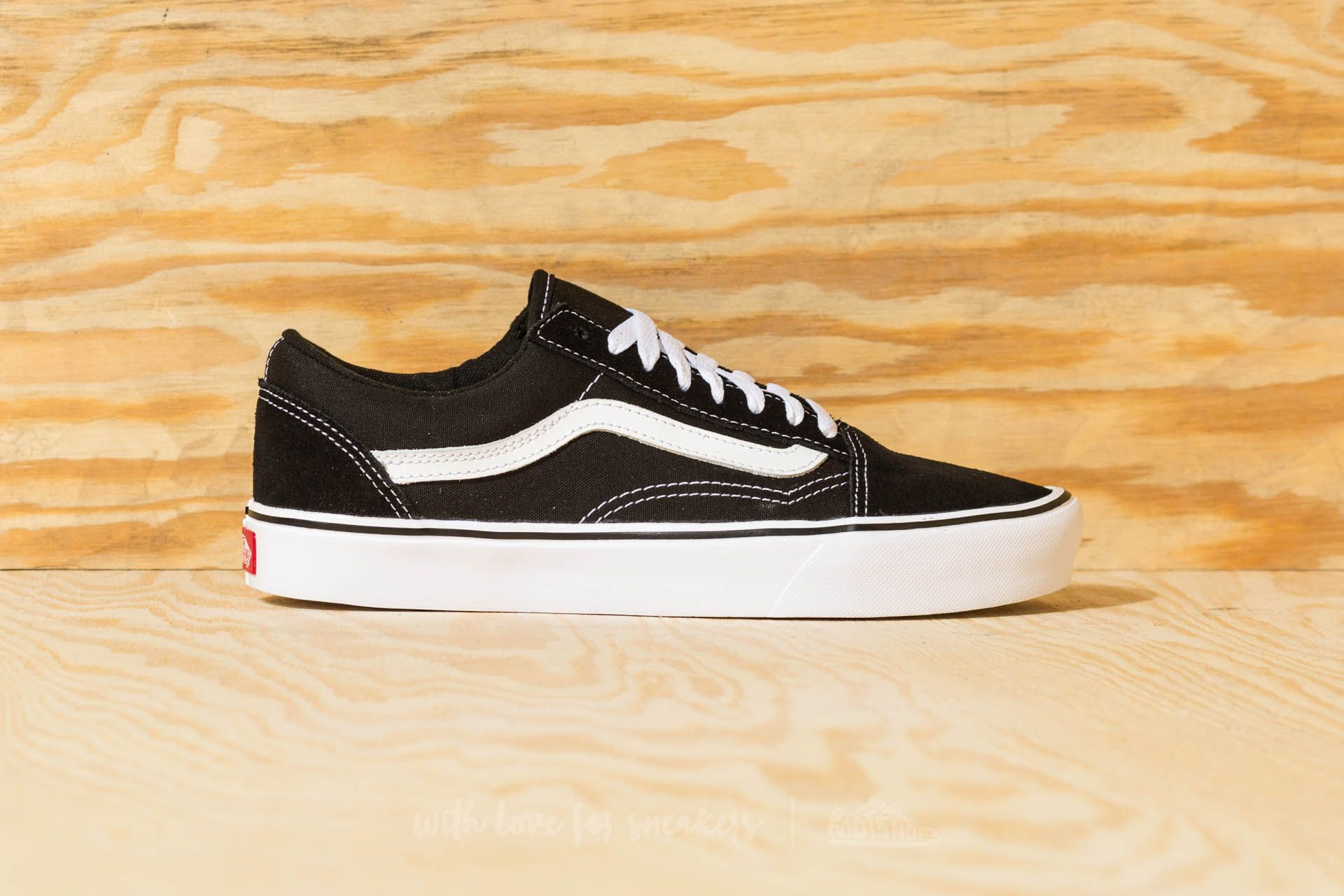 ad4b0bcca640 Vans Old Skool Lite (Suede  Canvas) Black  White at a great price