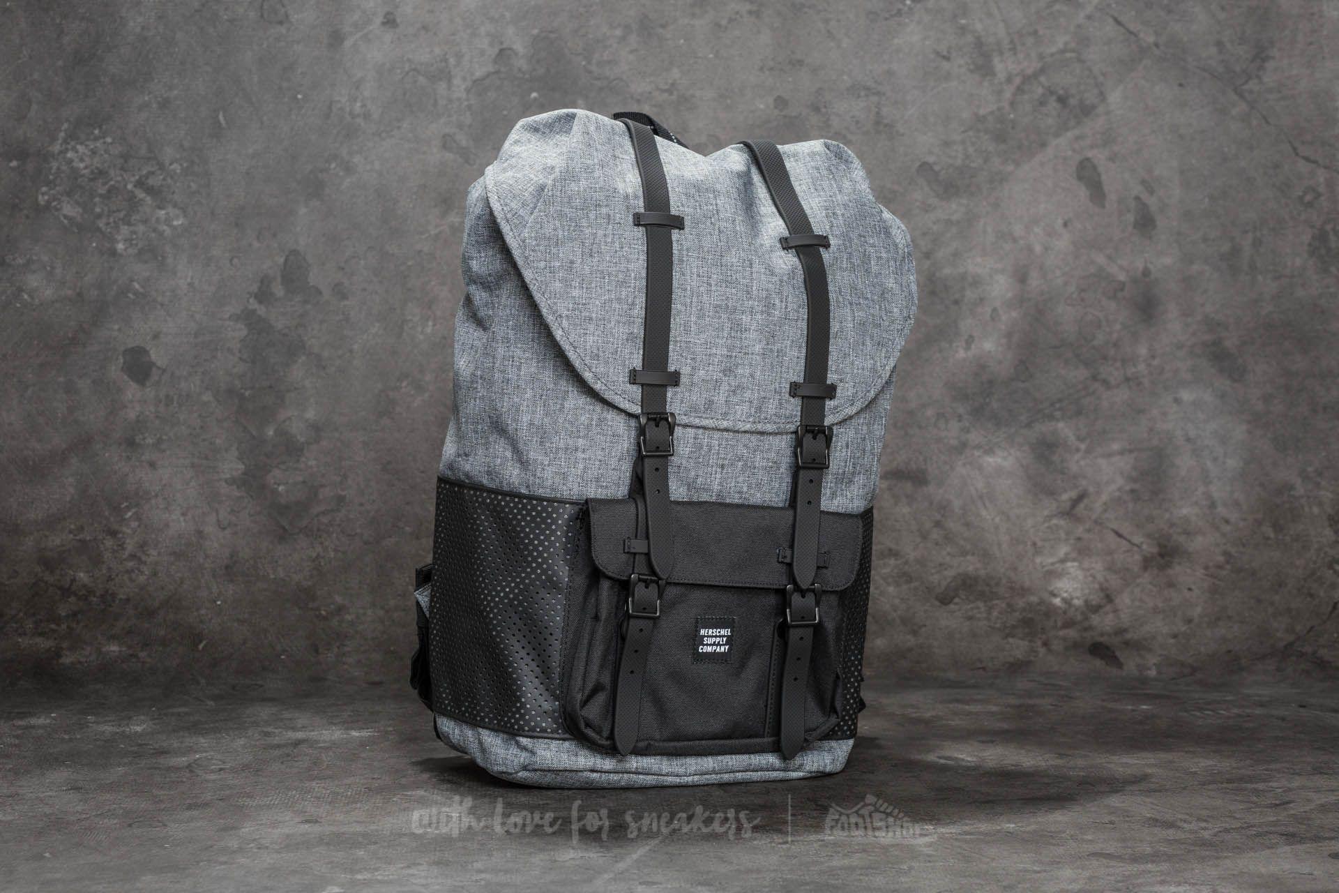 bab069e854bd Herschel Supply Co. Little America Backpack Raven Crosshatch  Black Rubber