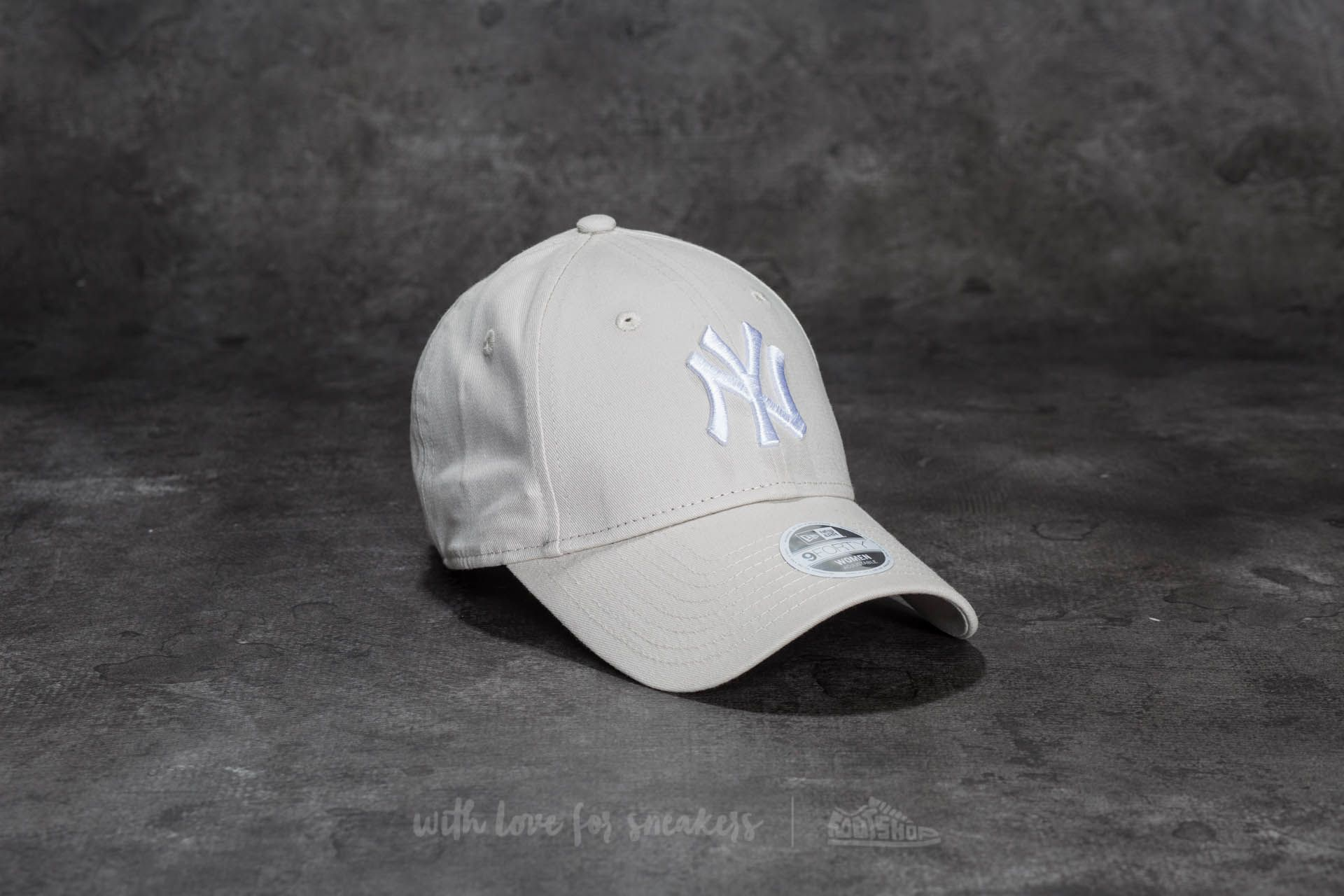 100% authentic 6c477 b6d29 ... germany new era 9forty women essential new york yankees cap sand white  4c6d3 3a016