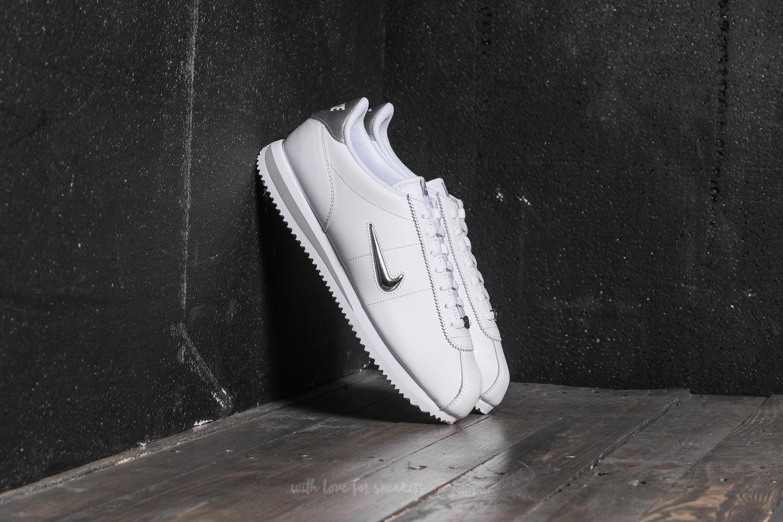 separation shoes bf215 c7be0 Nike Cortez Basic Jewel. White  Metallic Silver