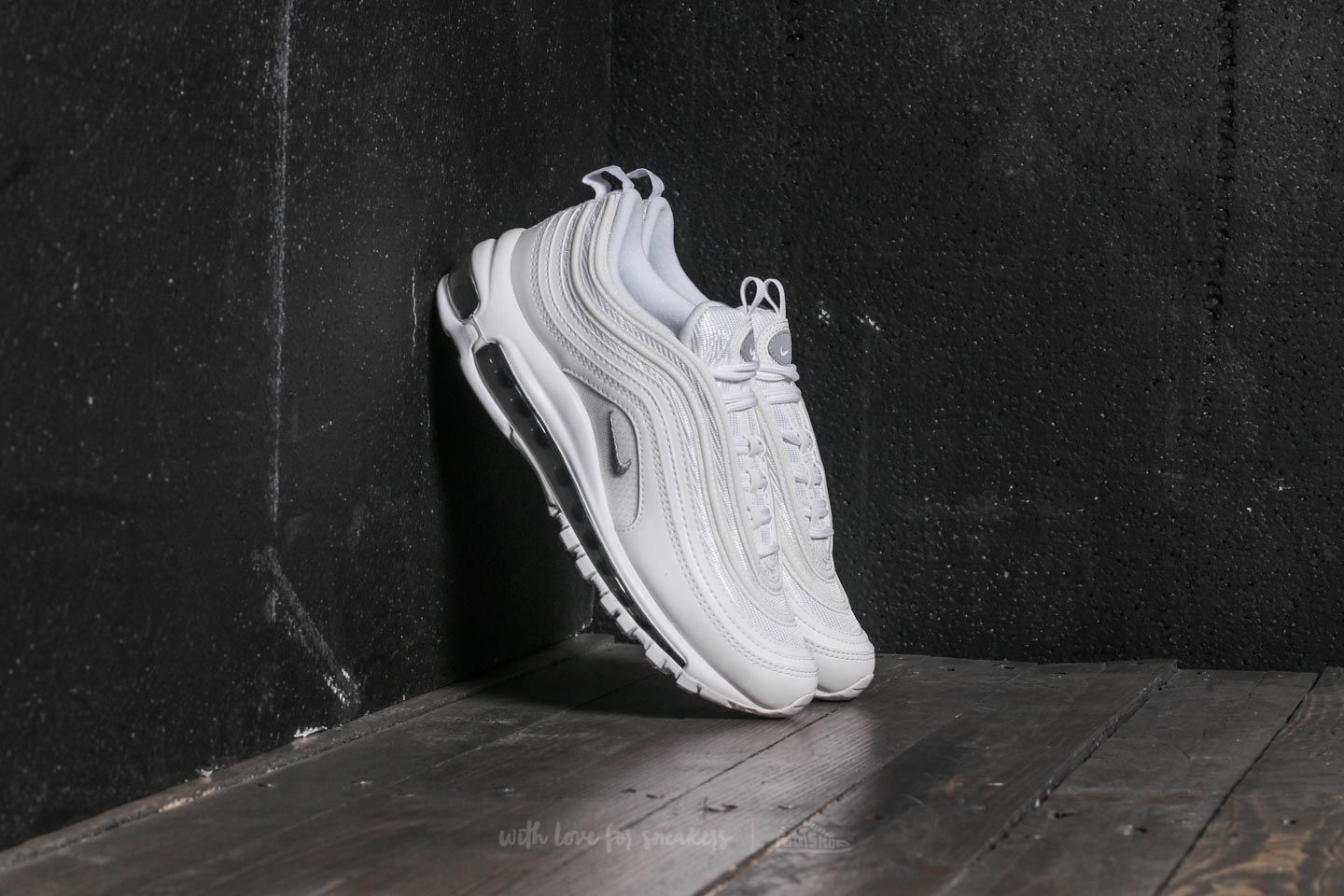 804a80af81402 Nike Air Max 97 (GS) White  Wolf Grey-Black