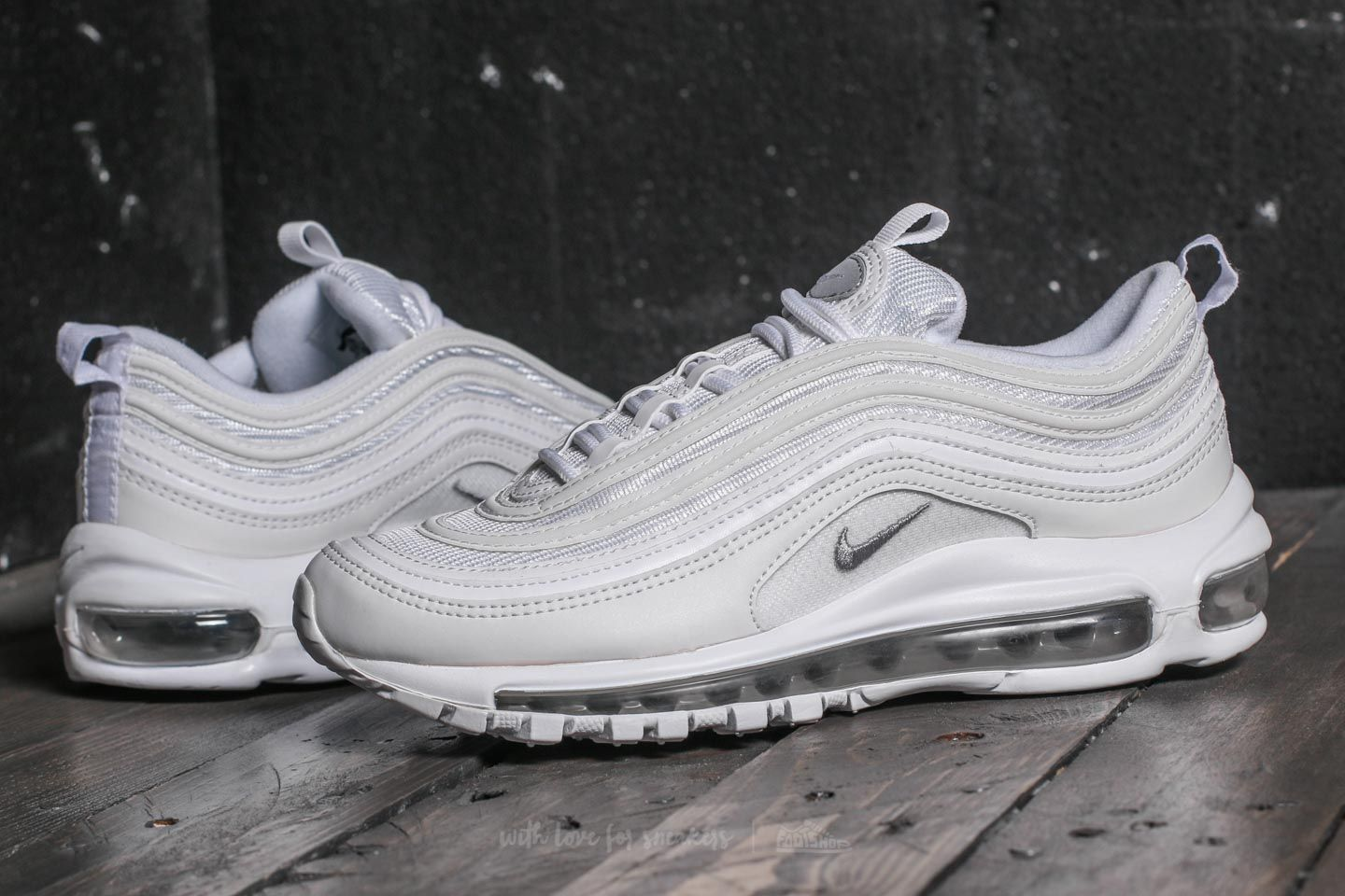 Nike Air Max 97 (GS) White Wolf Grey Black | Footshop
