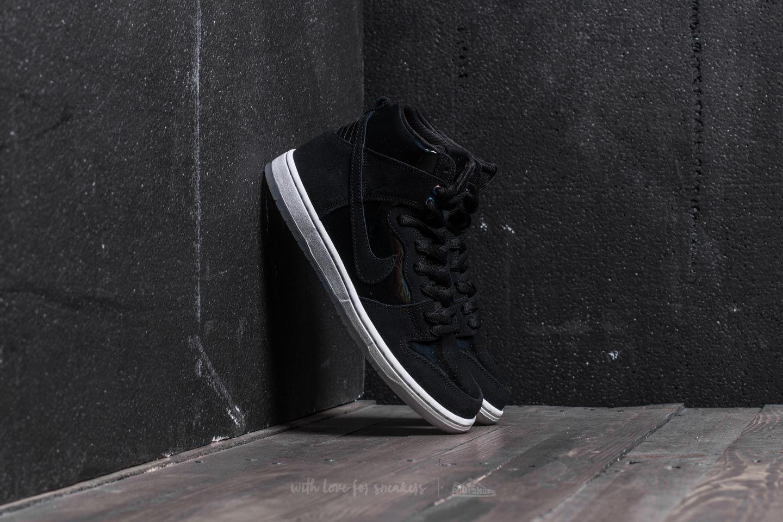 504bbc910d Nike SB Zoom Dunk High Pro Black  Black-White-Clear