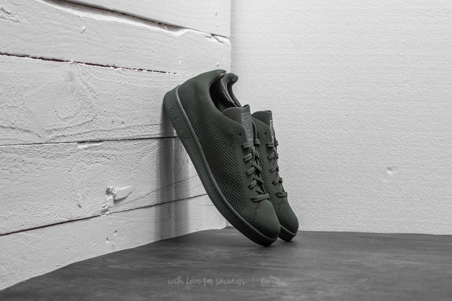 adidas Stan Smith Primeknit Night Cargo/ Night Cargo/ Night Cargo