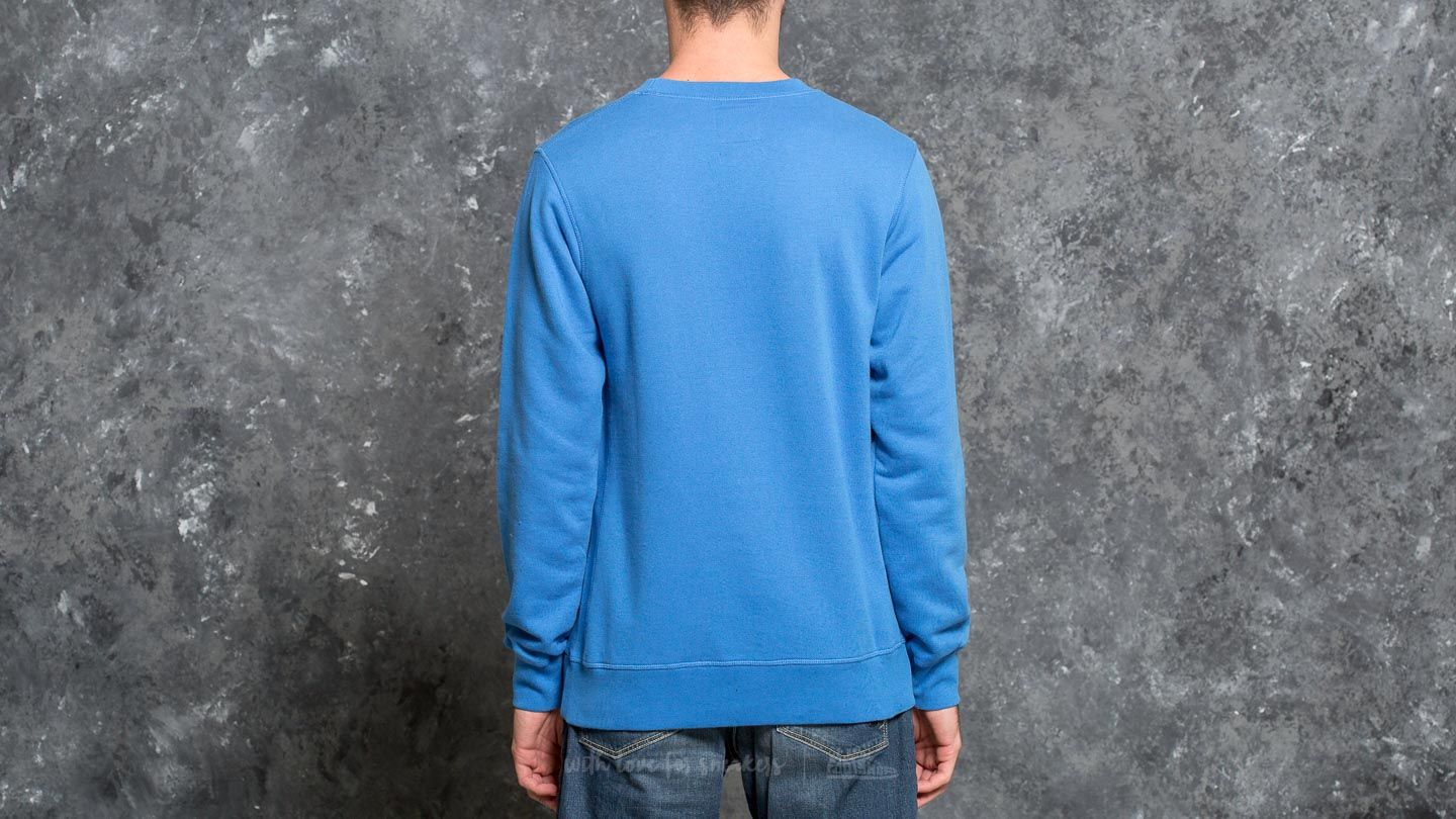 By Parra Arch Bird Crew Neck Sweater Bright Blue Footshop