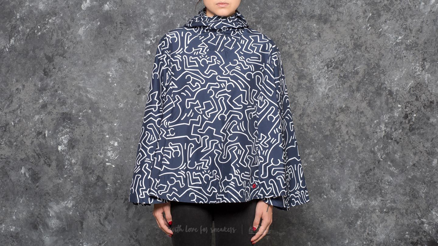 Herschel Supply Co. W Voyage Poncho Jacket Peacoat Keith Haring