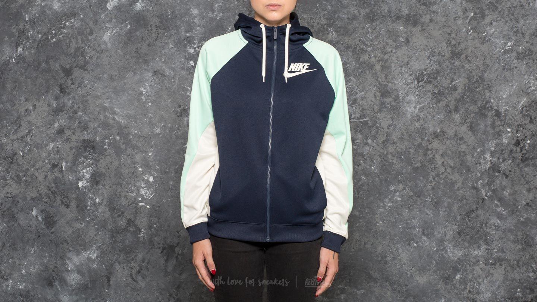 e81b16f2f073 Nike Sportswear Full Zip PK CB Hoodie Obsidian  Mint Foan  Sail ...
