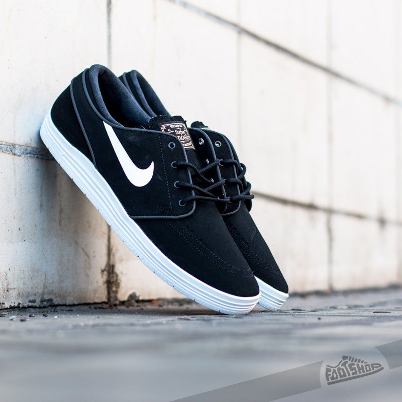 reputable site a16ce 8f060 Nike Lunar Stefan Janoski Black White-Metallic Gold