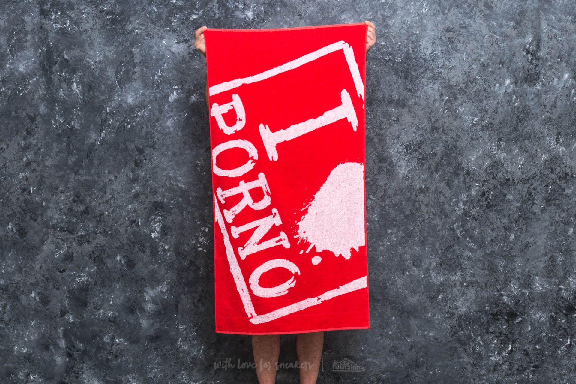 LIFE IS PORNO I Love Porno Flexin Towel 70x140 cm Red za skvelú cenu 33 € kúpite na Footshop.sk
