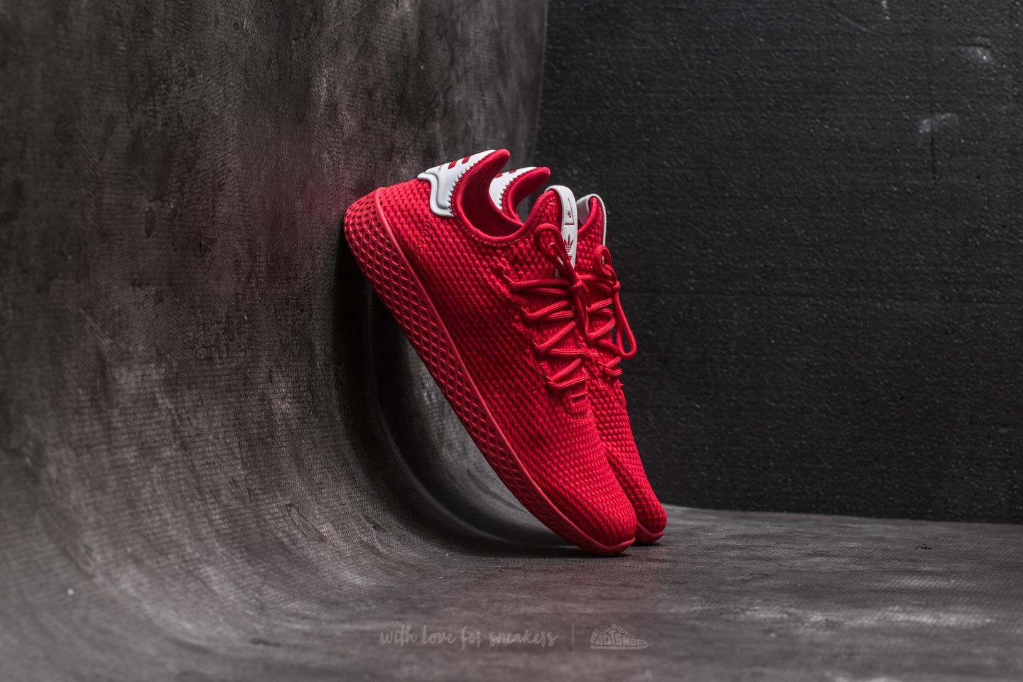 c9e87a78040c1 adidas Pharrell Williams Tennis HU Scarlet  Scarlet  Ftw White ...
