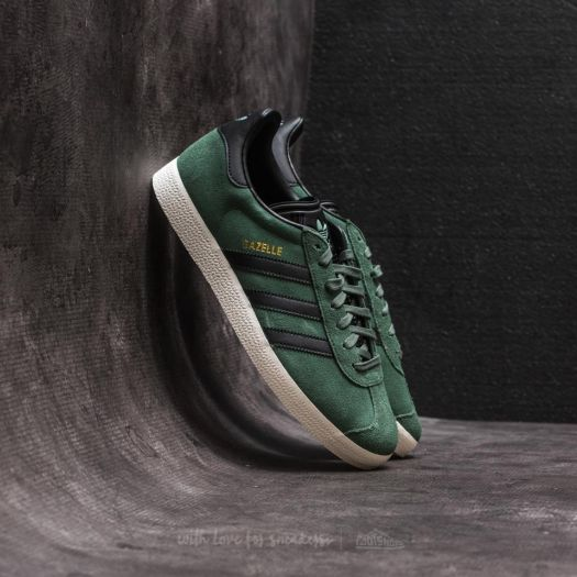 100% genuine los angeles best place adidas Gazelle Trace Green/ Core Black/ Gold Metalic ...