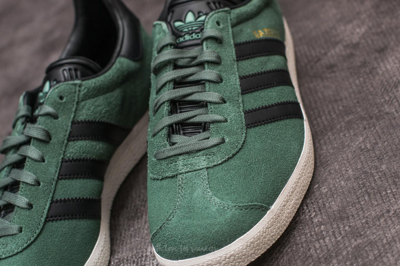 adidas Gazelle Trace Green Core Black Gold Metalic | Footshop