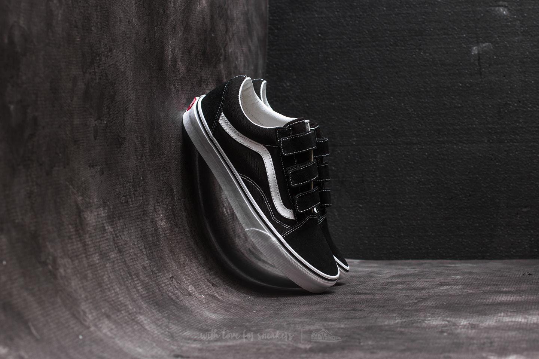 558c91a3bc Vans Old Skool V (Suede  Canvas) Black  True White