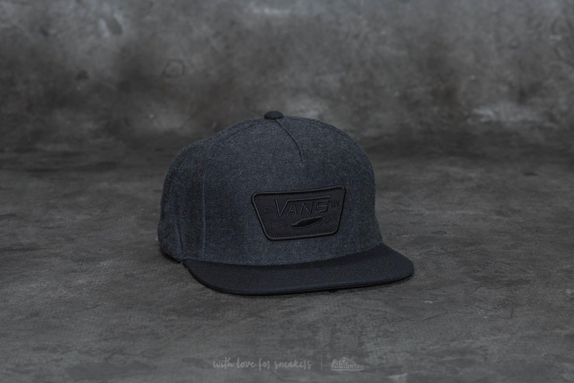 Vans Full Patch Snapback Asphalt-Black  6ff78de2a78