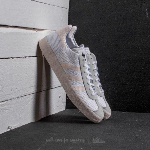 adidas Gazelle Primeknit Ftw White/ Chalk White/ Chalk White | Footshop