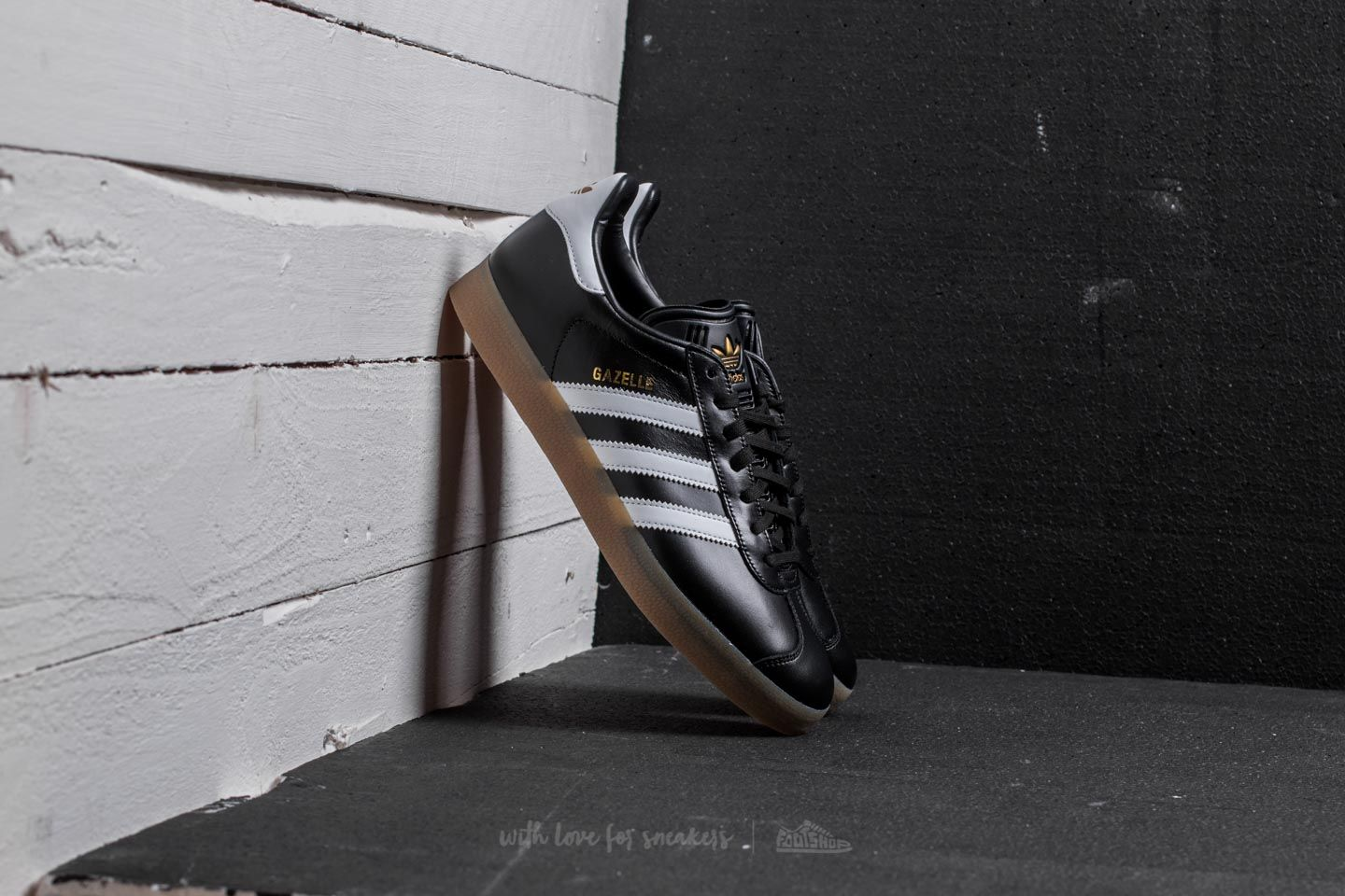 bb68ef94856 adidas Gazelle Core Black  Ftw White  Gold Metalic