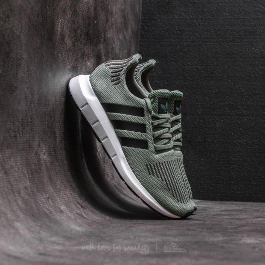adidas Swift Run J Trace Green Core Black Ftw White | Footshop