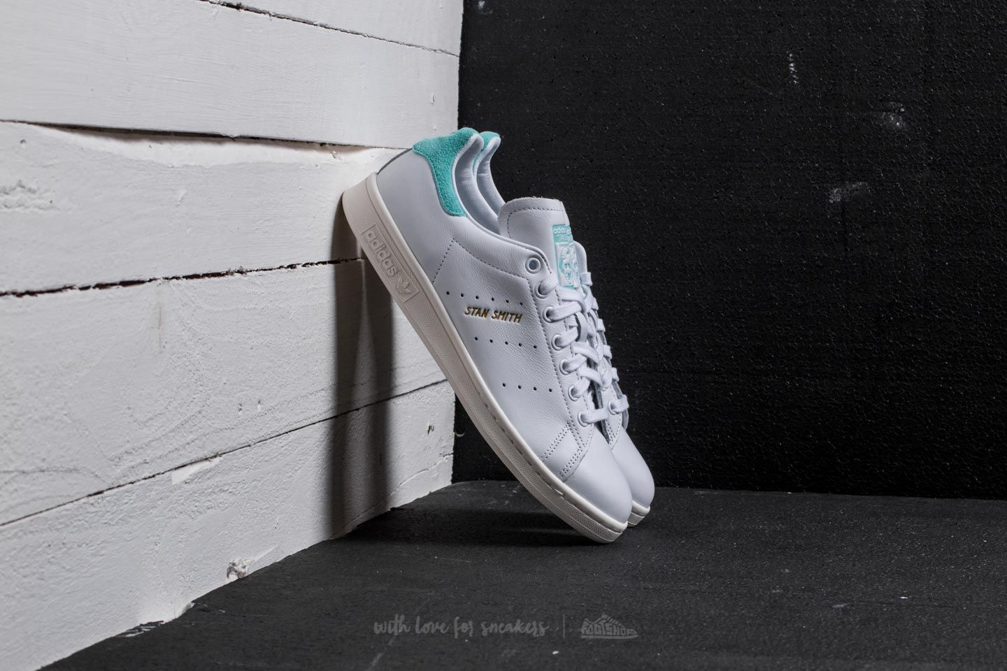 cheap for discount e8536 163da adidas Stan Smith. Footwear White Footwear White Energy Aqua