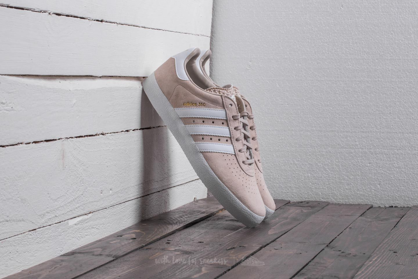 official photos 31427 9825f adidas 350 Clear Brown Ftw White Gold Metallic  Footshop
