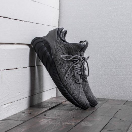 newest 5685e eba28 adidas Tubular Doom Sock Primeknit Grey Four/ Core Black ...