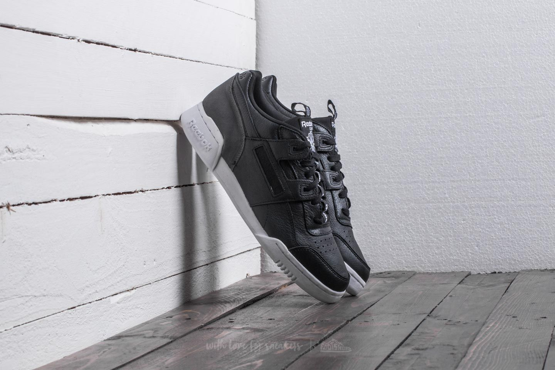 Reebok Workout Plus IT Black Coal White   Footshop