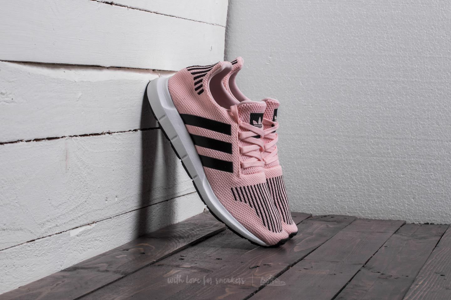 99faee9f9 adidas Swift Run J Icey Pink  Core Black  Footwear White