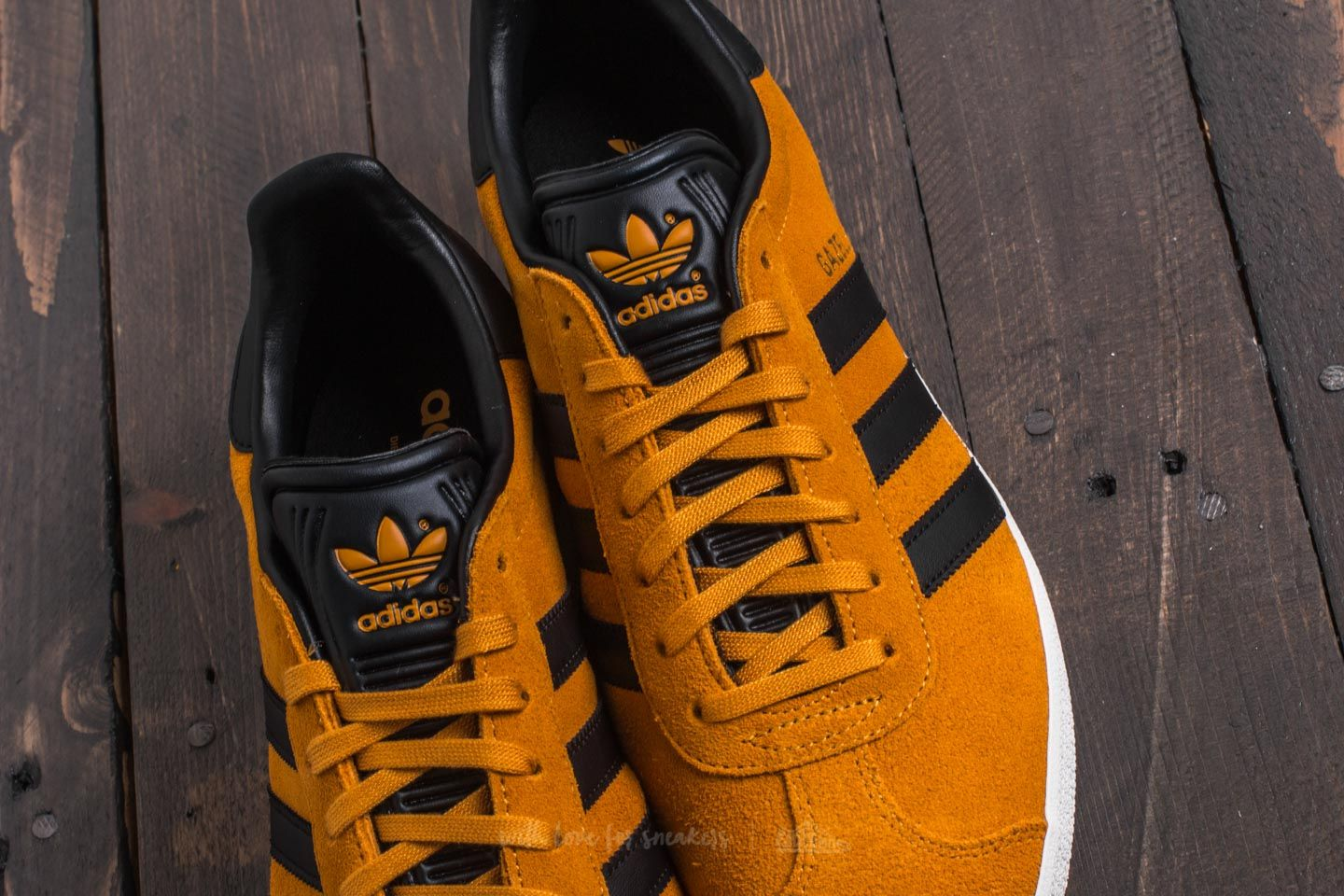 adidas Gazelle Tactile Yellow Core Black Gold Metalic