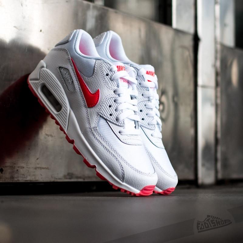 brand new b38a6 55615 Nike Air Max 90 Glow (GS) White/ Hyper Punch   Footshop