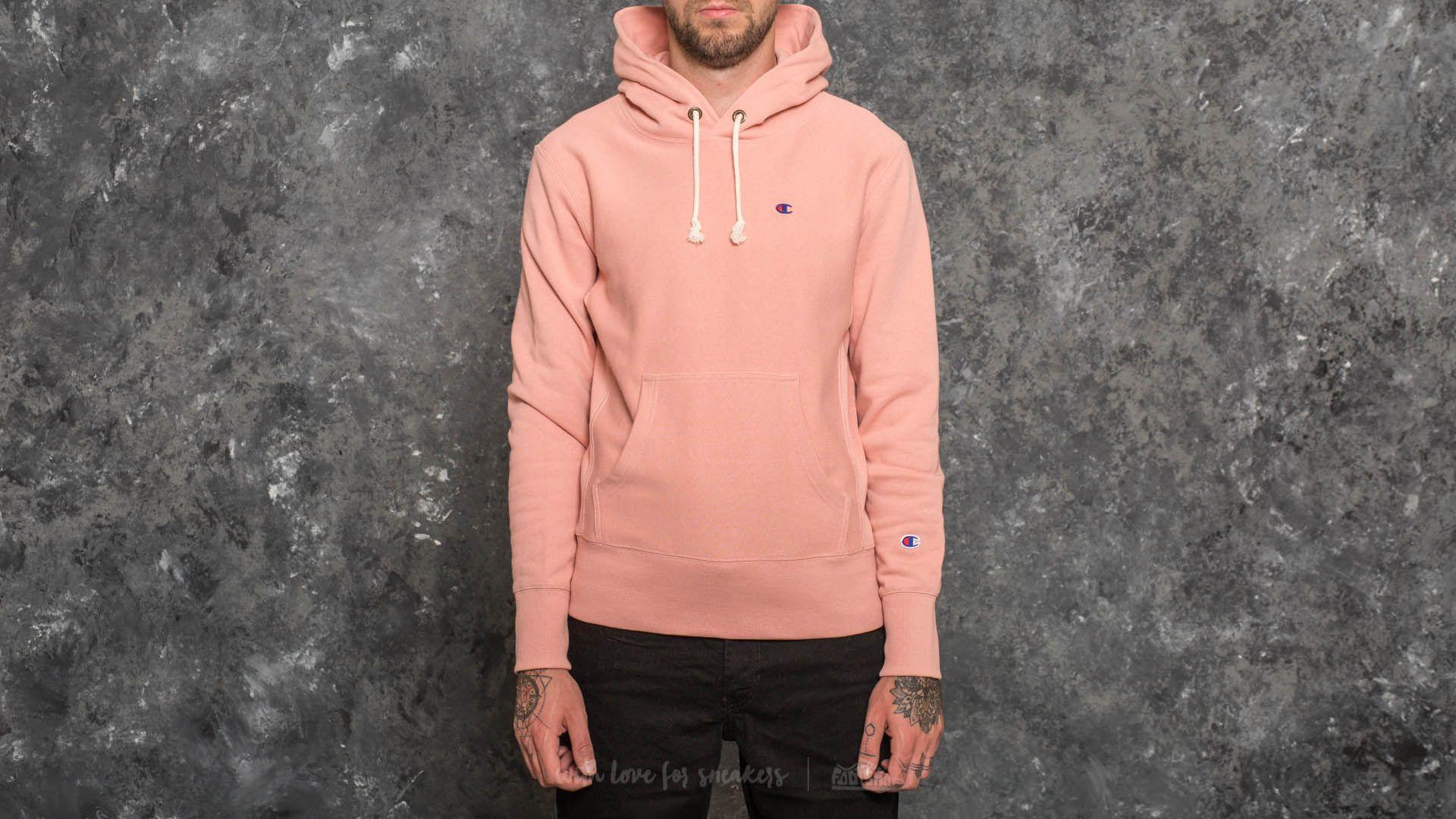 Champion Hooded Sweatshirt Light Pink  f8a12e02b