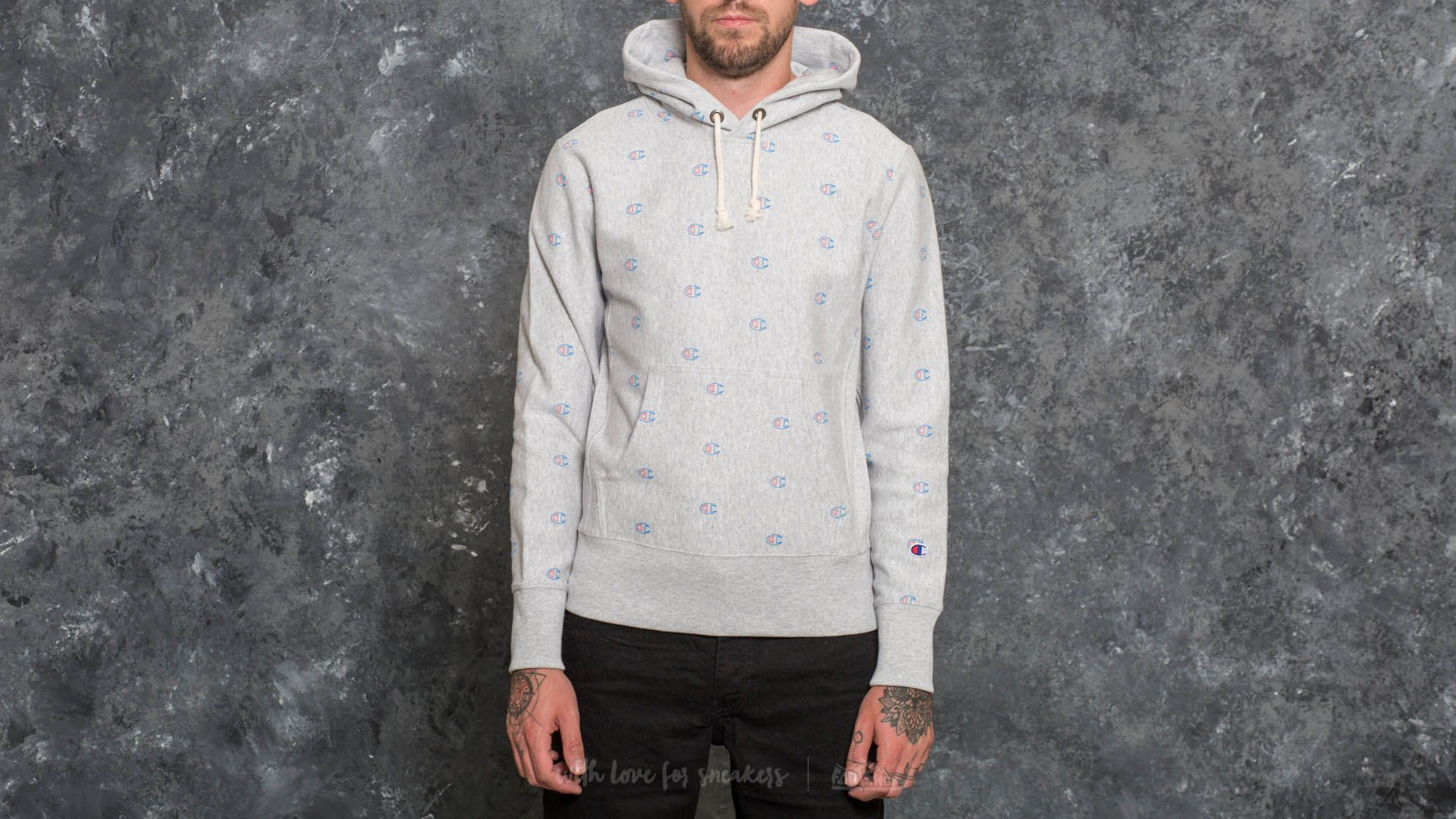 Sweatshirt Oxford Champion Light GreyFootshop Hooded VqzGSUMp
