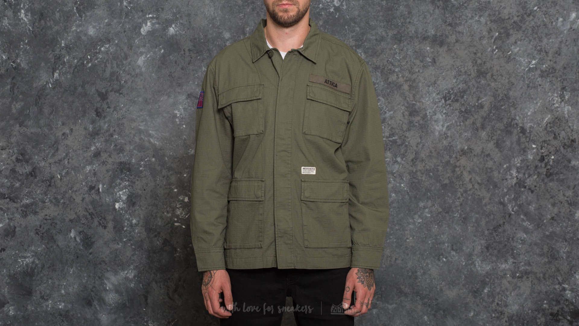 Undefeated Attica Jungle Longsleeve Shirt Olive
