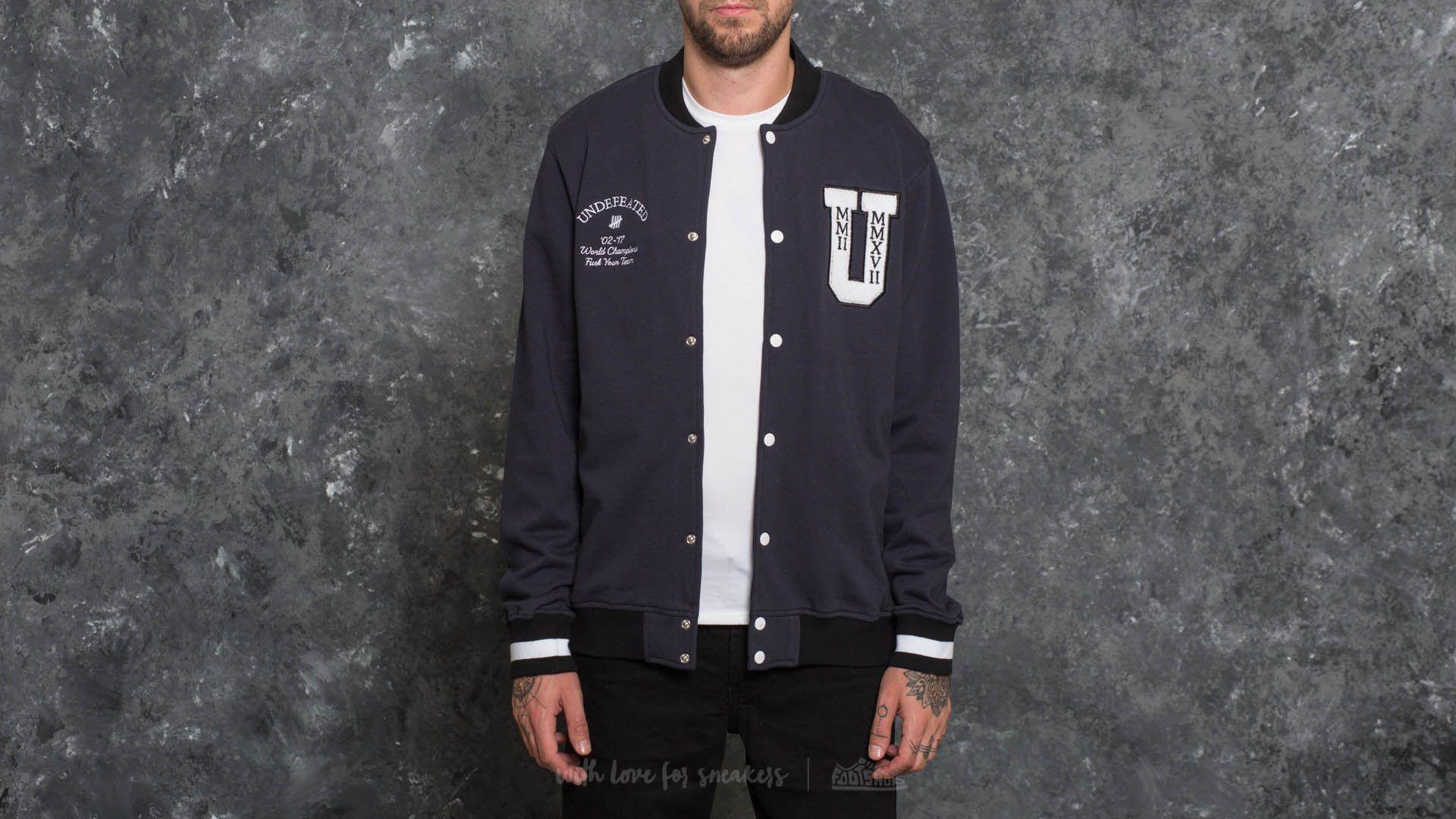 Undefeated Fleece Varsity Jacket Navy