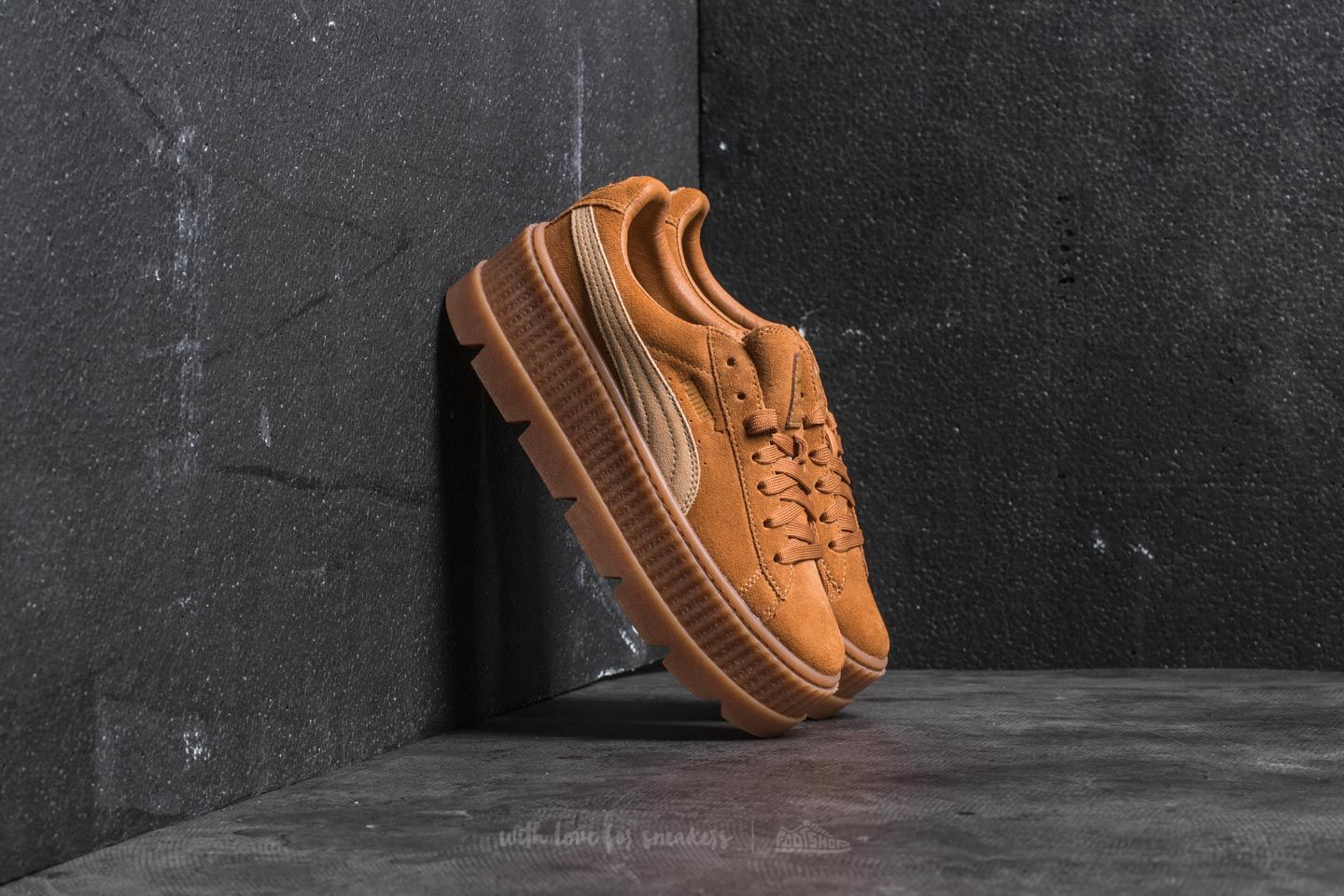 08dc3af41b9d7 Puma Fenty Cleated Creeper Suede Golden Brown-Lark | Footshop