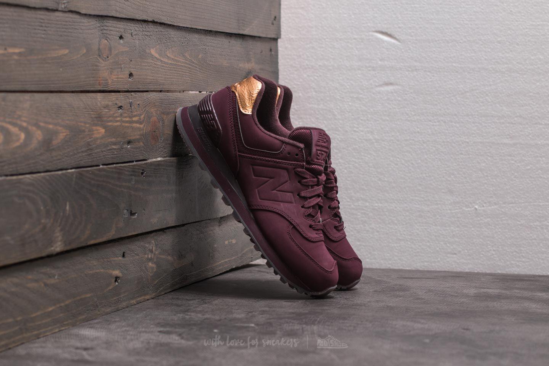 Women's shoes New Balance 574 Burgundy