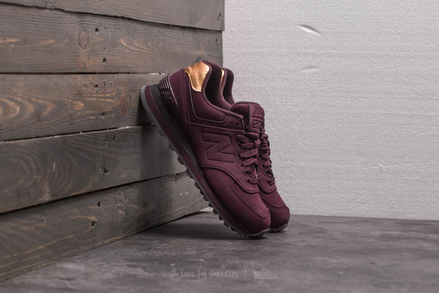 69edd78fdd064 New Balance 574 Burgundy/ Gold | Footshop