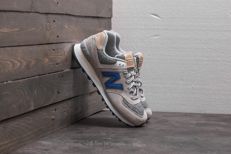 New Balance 574 Grey  Blue  White  d166b4a67