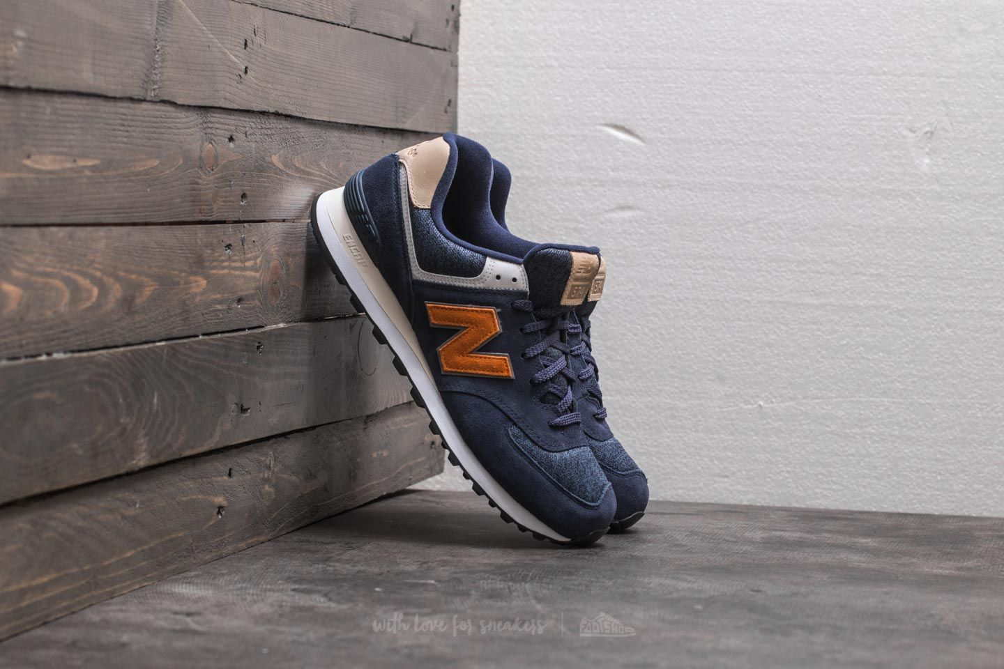 0a248ed5a22ac New Balance 574 Blue/ Orange/ White | Footshop
