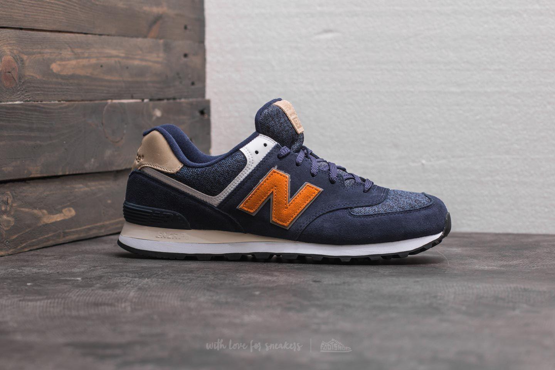 new balance 574 orange and blue