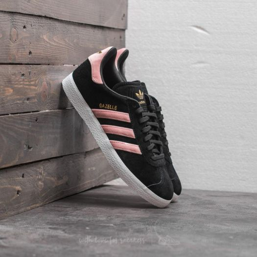 adidas Gazelle W Core Black  Raw Pink  Gold Foil  529fd9f1e