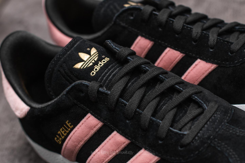 adidas Gazelle W Core Black/ Raw Pink/ Gold Foil   Footshop