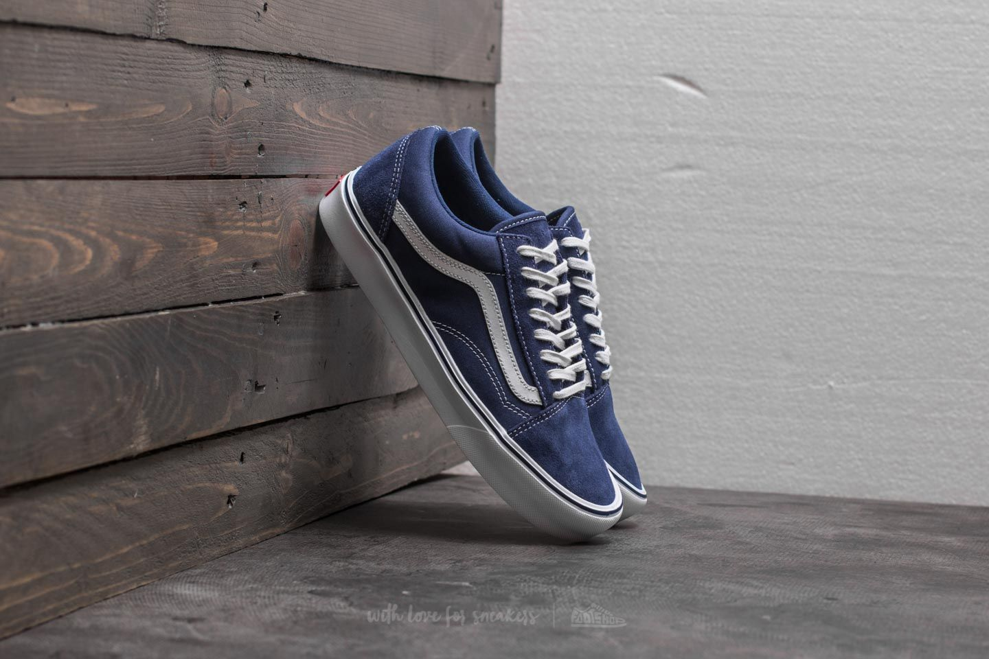 vans canvas old skool blue black