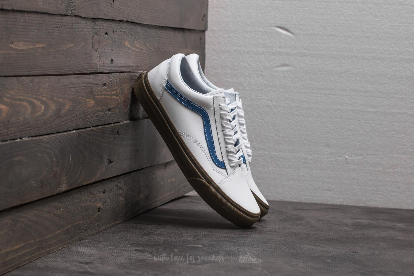 be9d8ec79db8 Vans Old Skool (Bleacher) True White  Delft  Gum