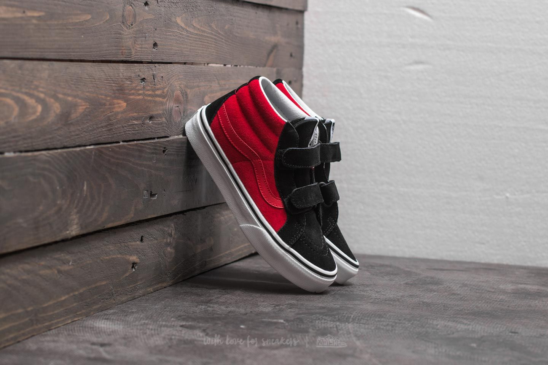 09acb8ad79 Vans SK8-Mid Reissue (2-Tone) Black  Racing Red
