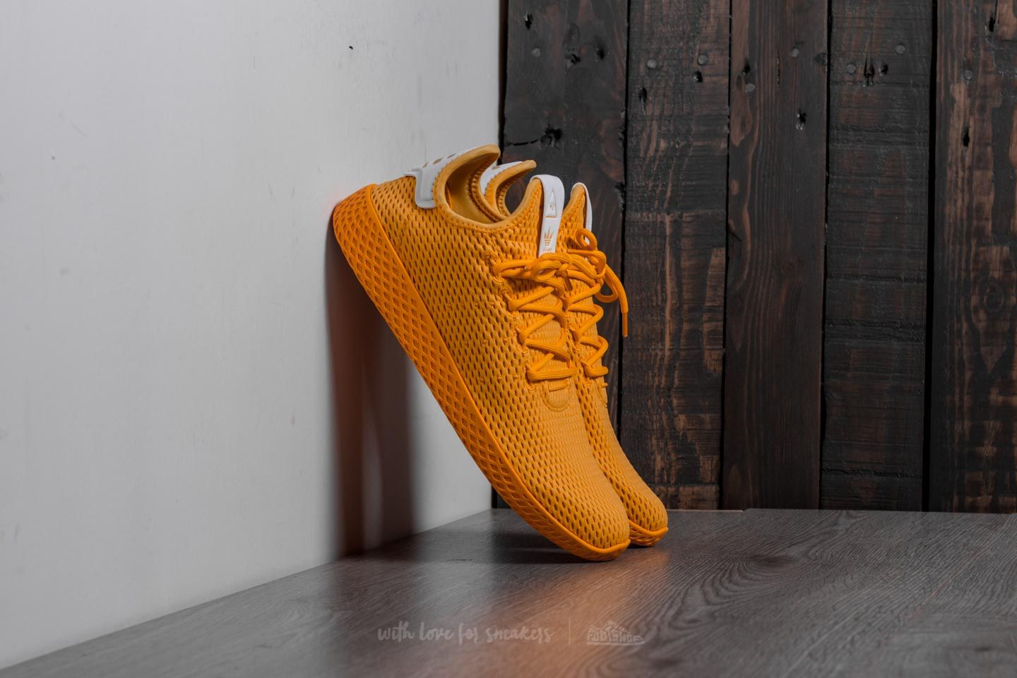 adidas Pharrell Williams Tennis Hu Collegiate Gold Collegiate Gold Ftw White | Footshop