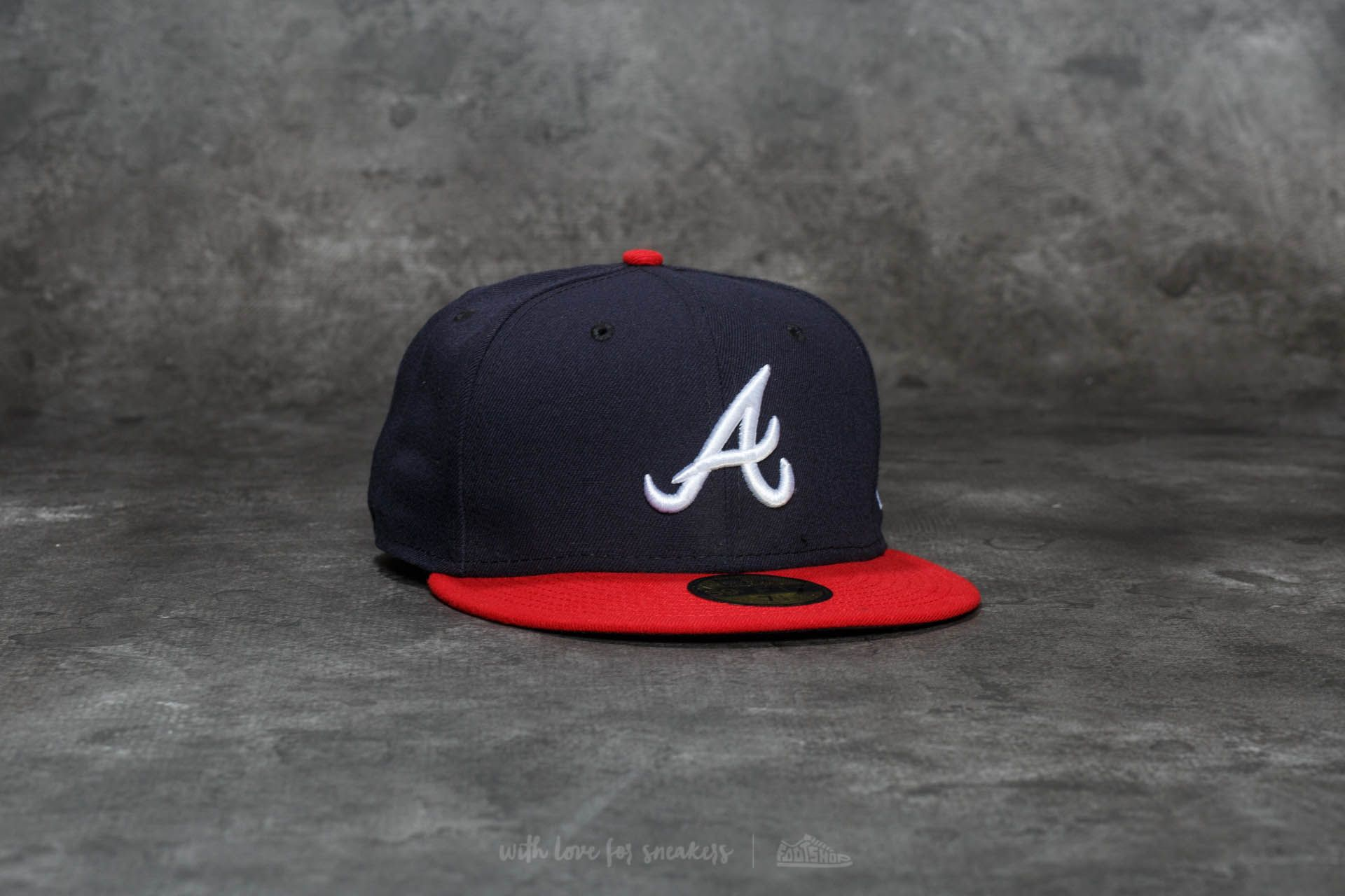 New Era 59Fifty Acperf Atlanta Braves Cap Navy  84d5c0a61ab