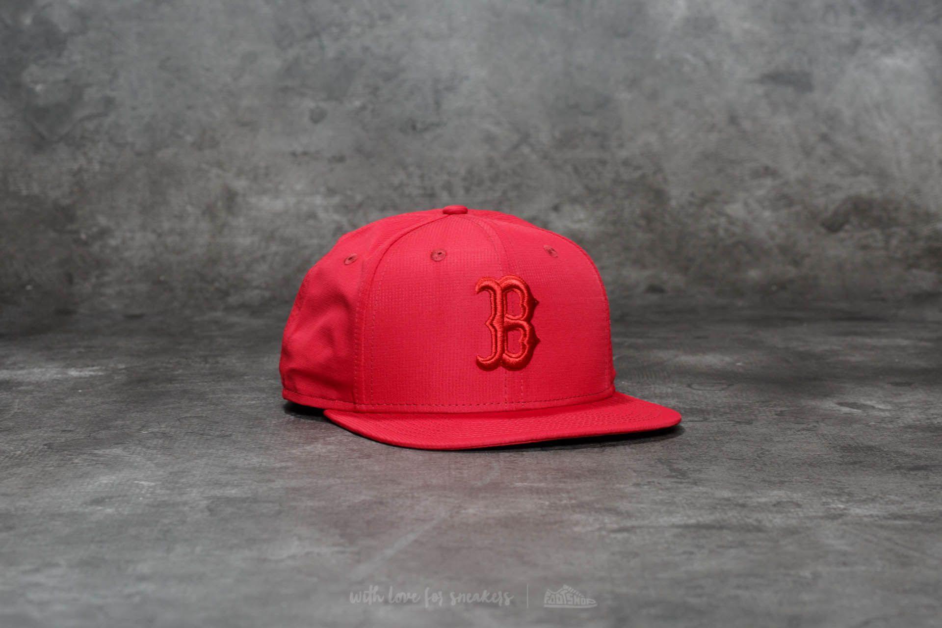 New Era 9Fifty Nano Ripstop Boston Red Sox Cap Cardinal Red