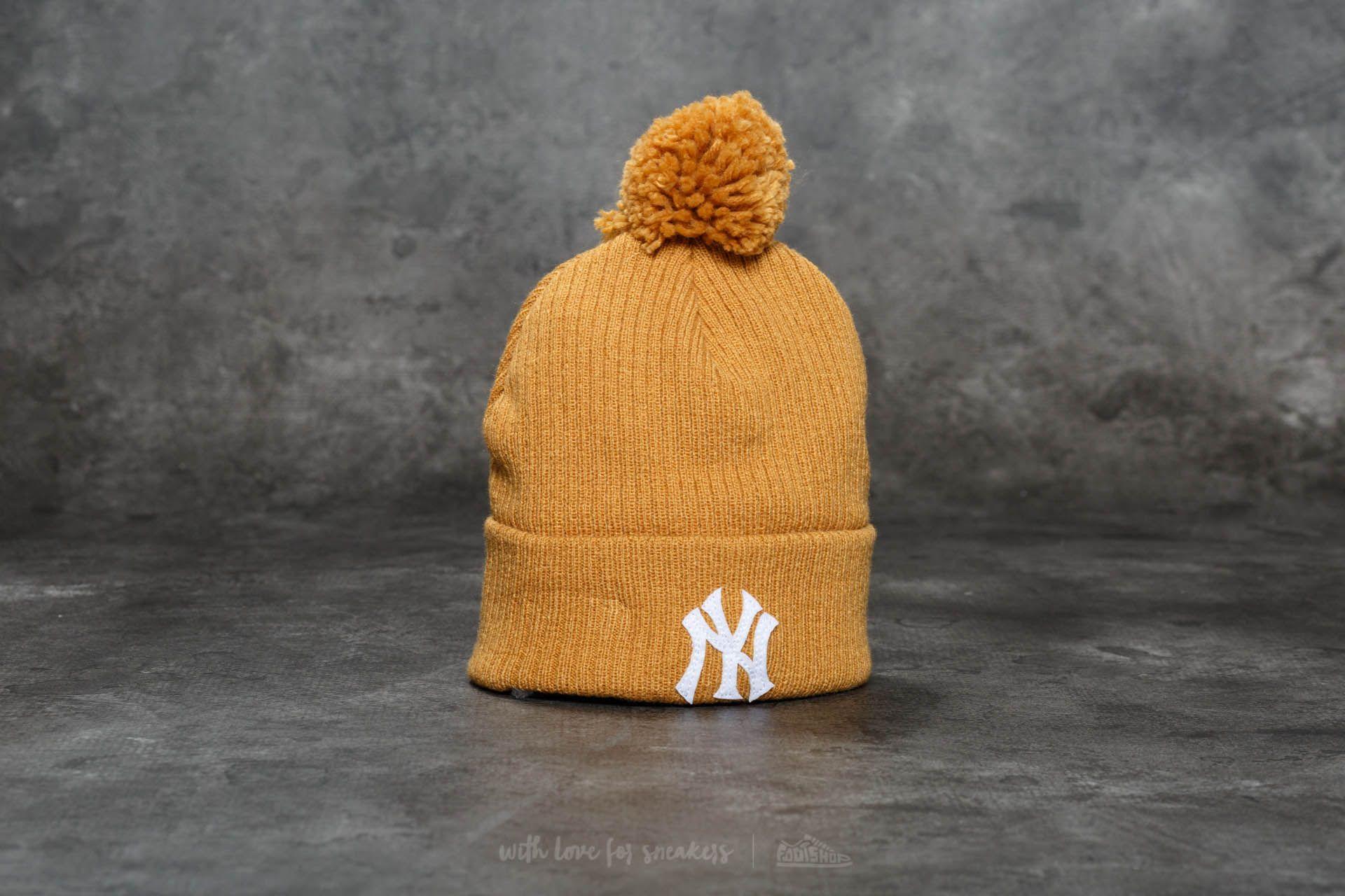 0f5ae841825 New Era Lightweight Felt Bobble New York Yankees Hat Brown ...