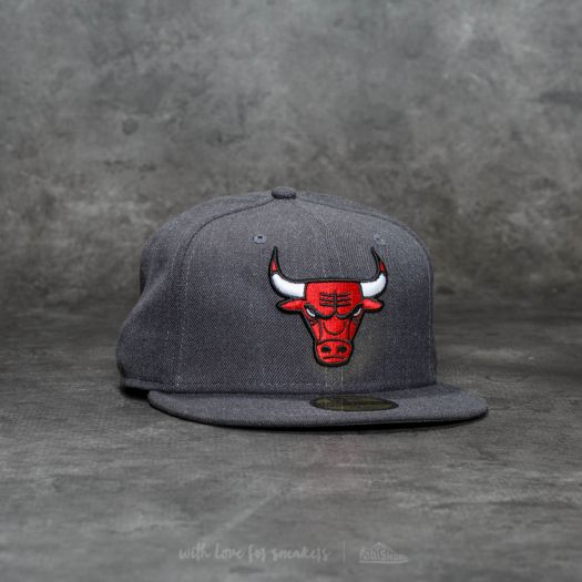 a109c626d54 New Era 59Fifty NBA Heather Fitted Chicago Bulls Cap Grey