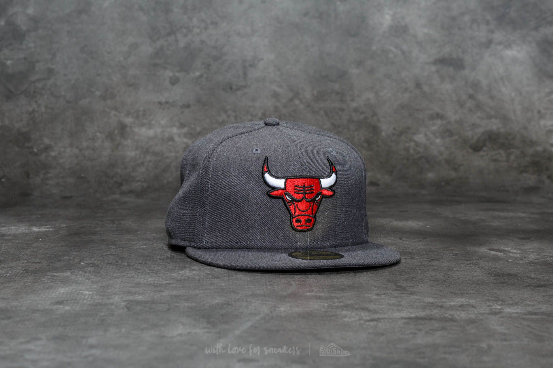 150fe616 New Era 59Fifty NBA Heather Fitted Chicago Bulls Cap Grey | Footshop