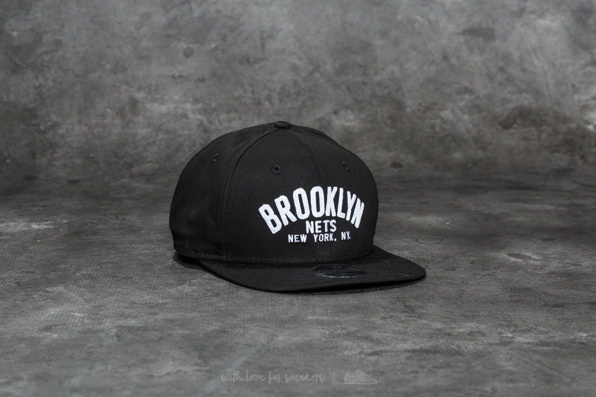 3dd3fb83e61 New Era 9Fifty Felt Script Brooklyn Nets Cap Black